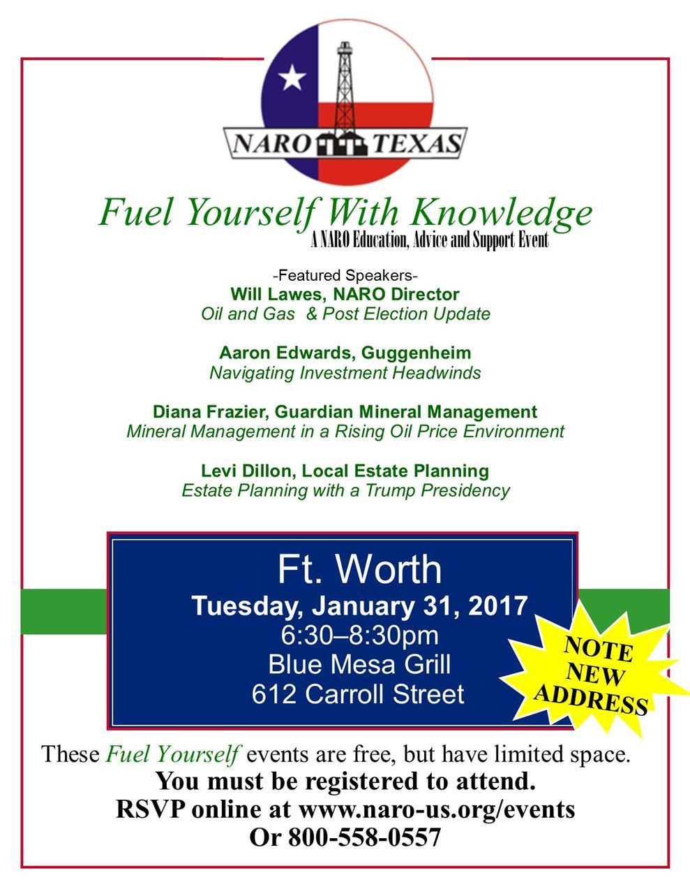 naro texas fuel yourself knowledge